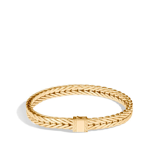 Modern Chain 7MM Bracelet in 18K Gold, , large