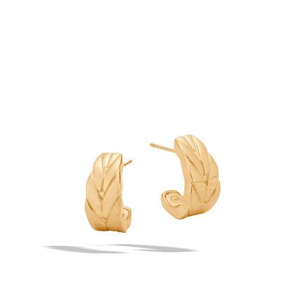 Modern Chain Small J Hoop Earring in 18K Gold
