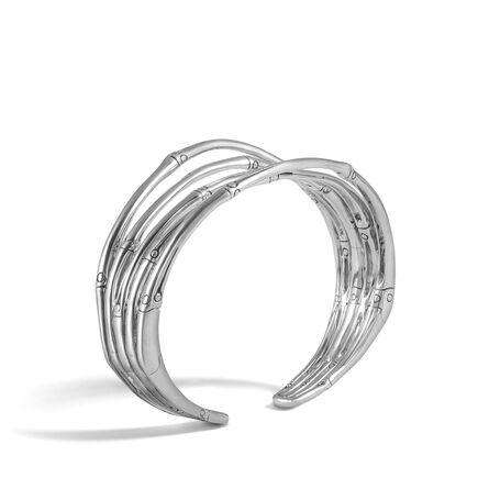 Bamboo 25.5MM Cuff in Silver