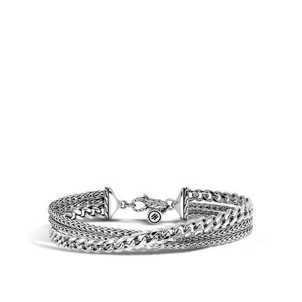 AAxJH Classic Chain Triple Row Bracelet in Silver