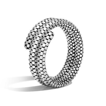 Dot Double Coil Bracelet in Silver