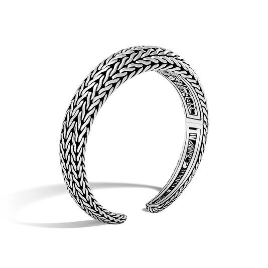 Classic Chain 12MM Graduated Kick Cuff in Silver, , large