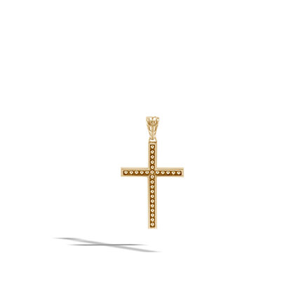 Chain Jawan Cross Pendant in 18K Gold