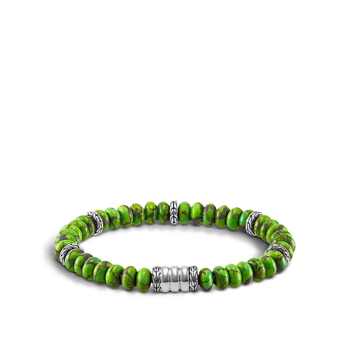 Bedeg  Bead Bracelet in Silver