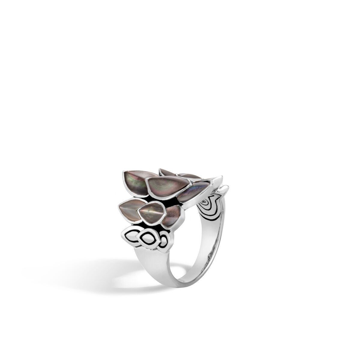 Legends Naga Saddle Ring in Silver with Gemstone