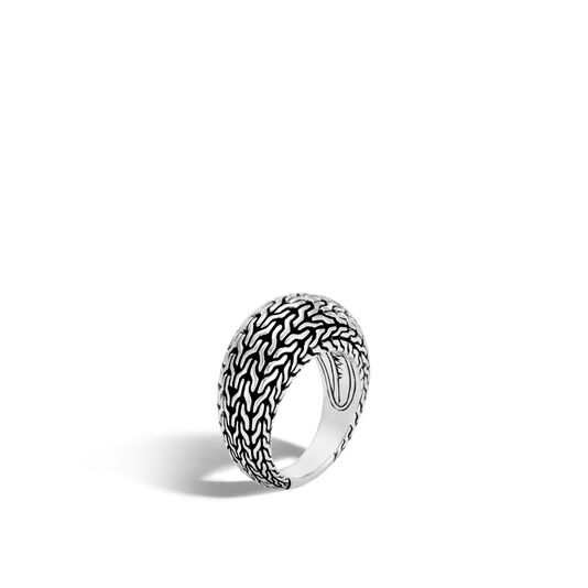 Classic Chain 11MM Dome Ring in Silver, , large