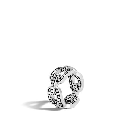 Dot 10MM Band Ring in Silver and 18K Gold