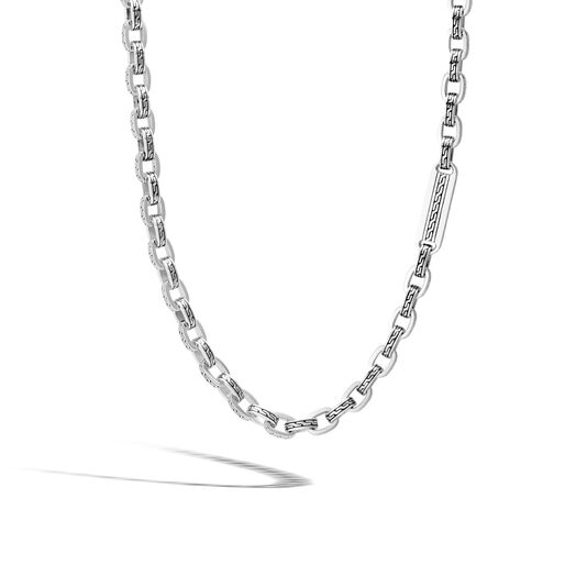 Classic Chain 7MM Link Necklace in Silver, , large