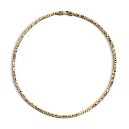 Classic Chain 3.5MM Necklace in 18K Gold