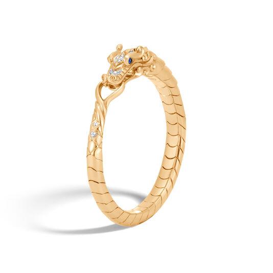 Legends Naga Bracelet in 18K Gold with Diamonds, White Diamond, large