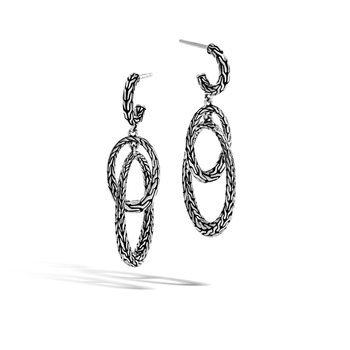 Classic Chain Drop Earring in Silver