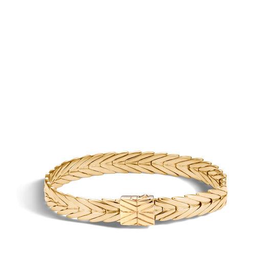 Modern Chain 8MM Bracelet in 18K Gold, , large