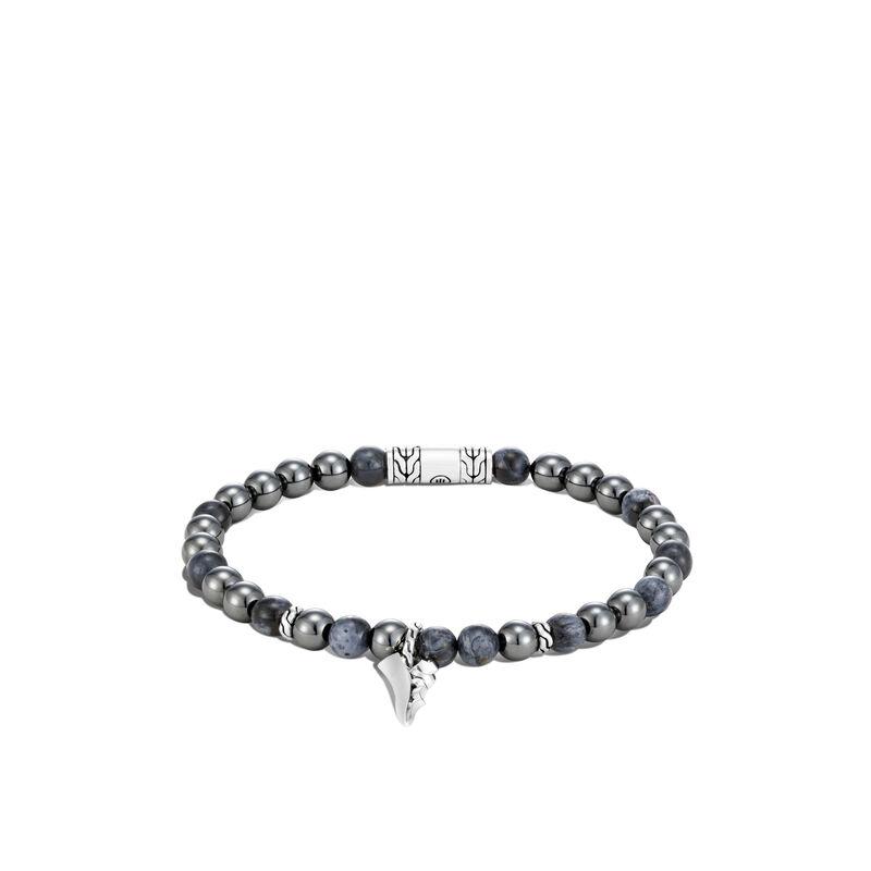 Chain Keris Dagger Bead Bracelet in Silver, , large