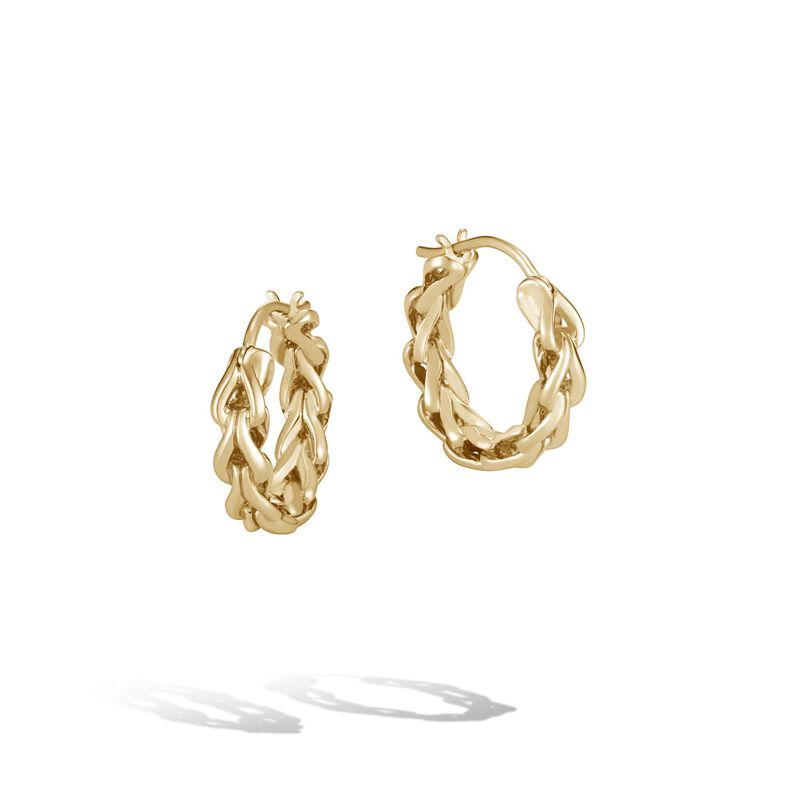Asli Classic Chain Link Small Hoop Earrings, 18K Gold, , large