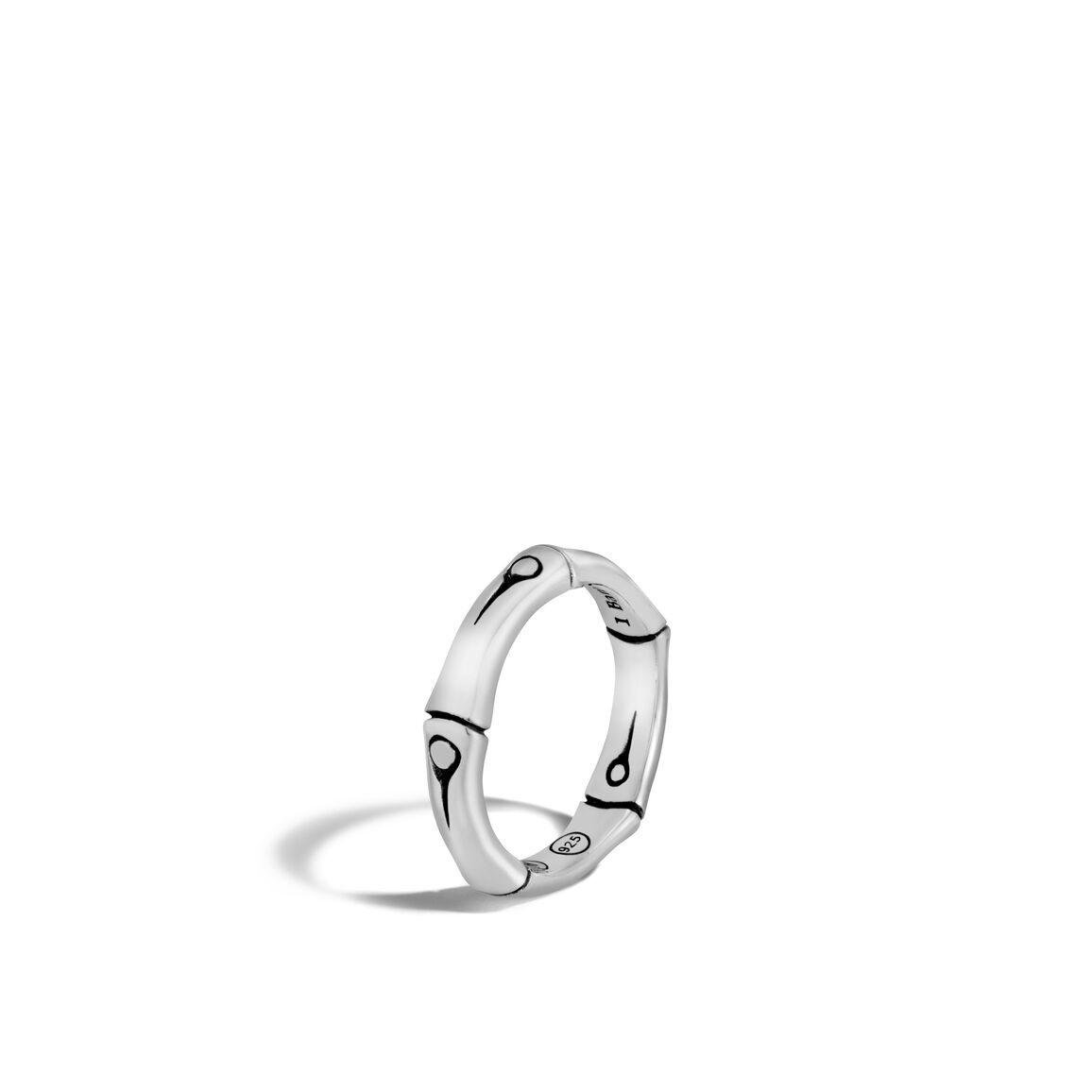 Bamboo 4.5MM Band Ring in Silver