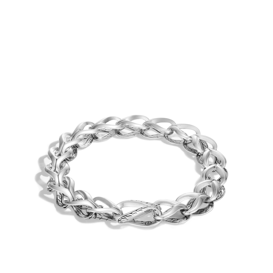 Asli Classic Chain Link 9.5MM Infinity Bracelet in Silver