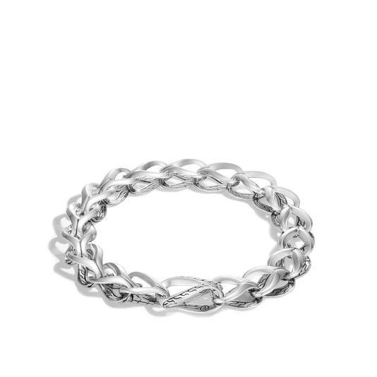 Asli Classic Chain Link 9.5MM Bracelet in Silver, , large