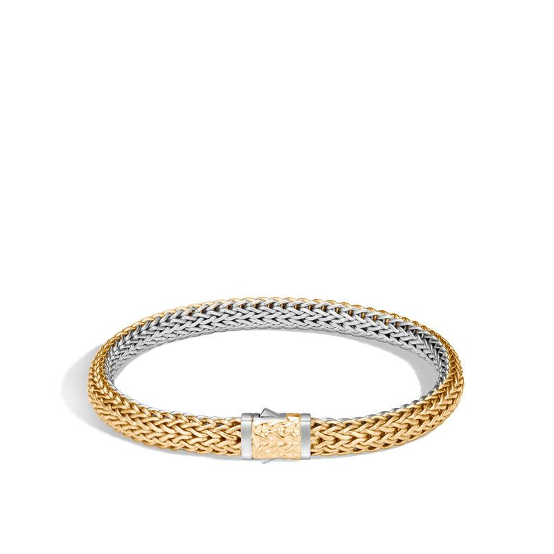 Classic Chain 6.5MM Reversible Bracelet, Silver, 18K Gold, , large