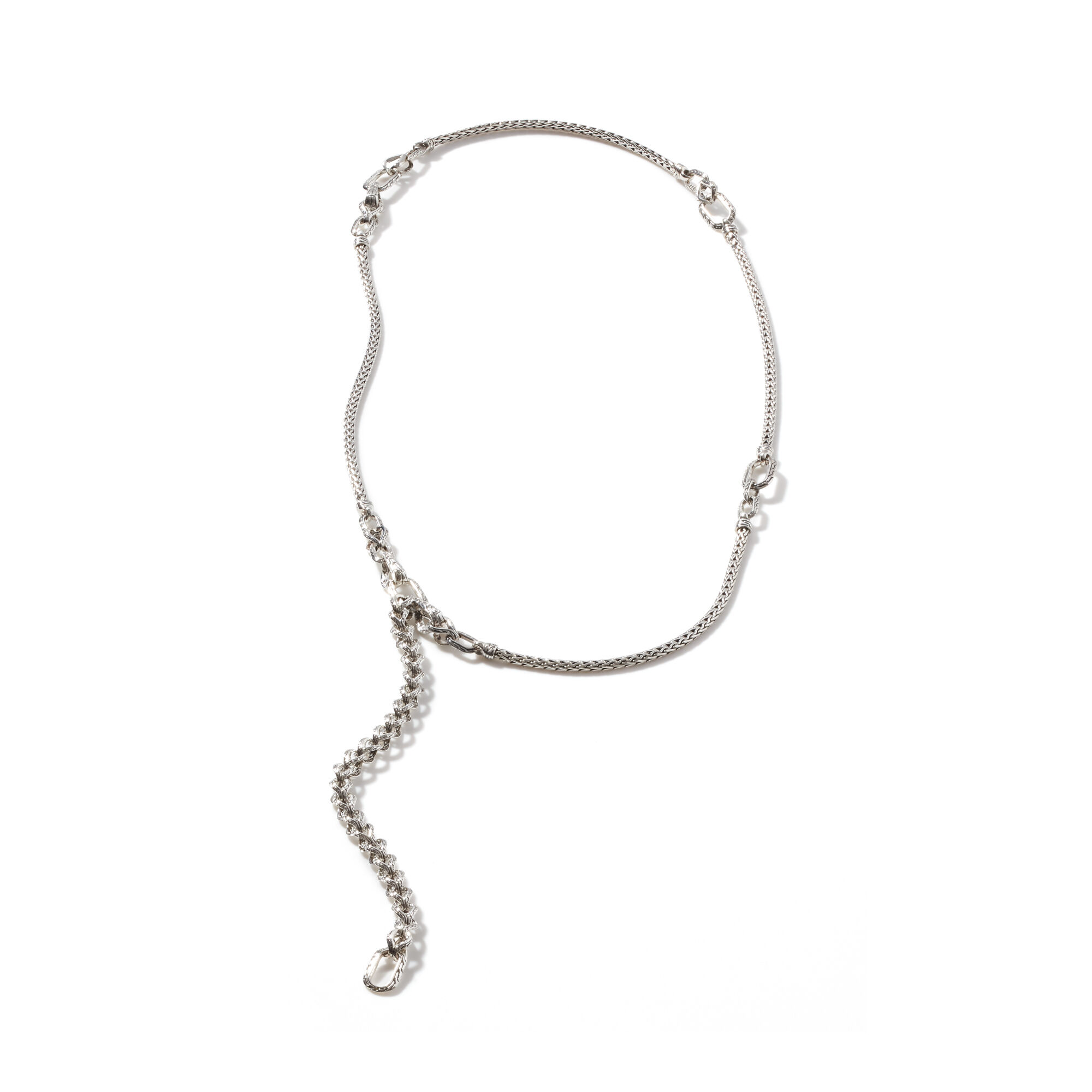 Asli Classic Chain Link Transformable Necklace in Silver, , large