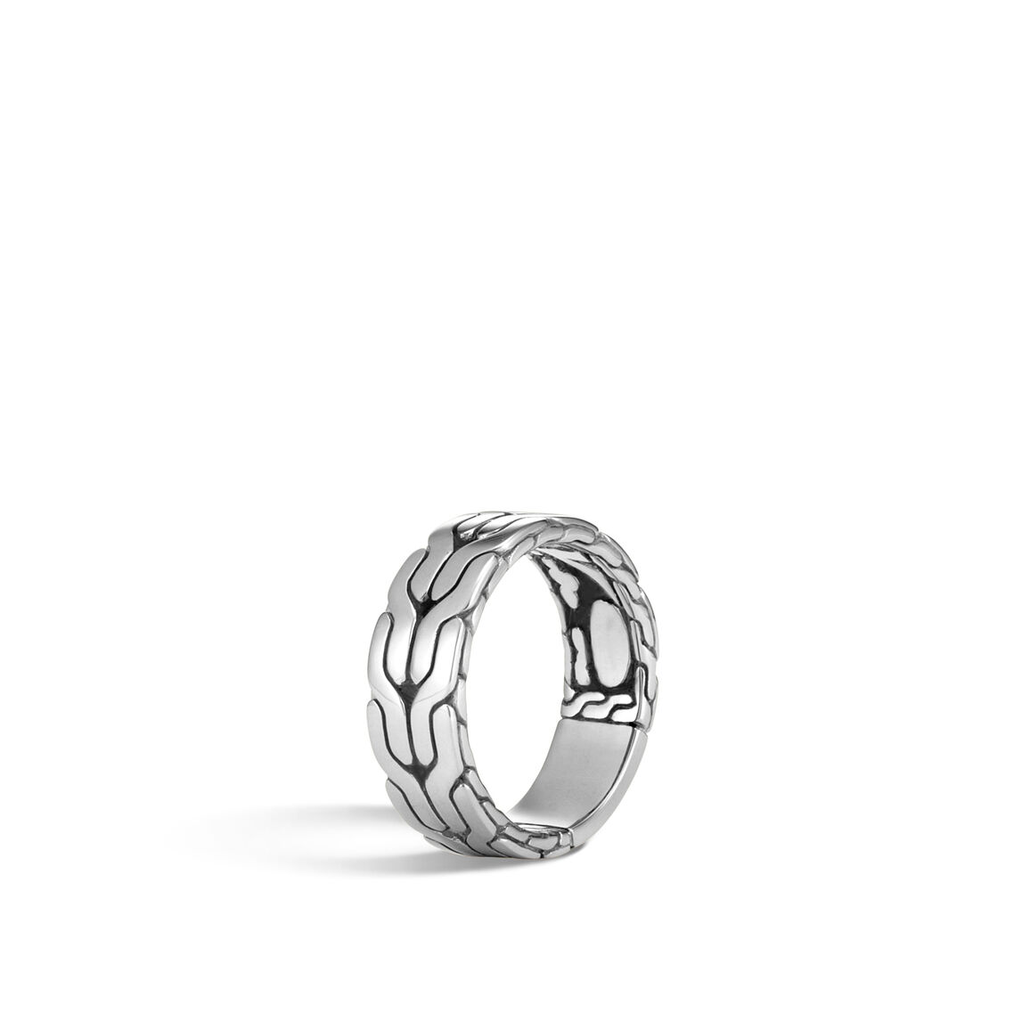 Classic Chain 8MM Band Ring in 18K White Gold