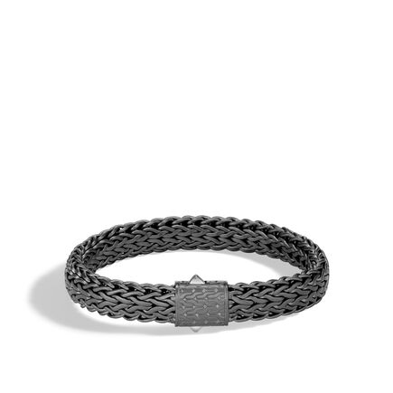 Classic Chain 11MM Bracelet in Blackened Silver