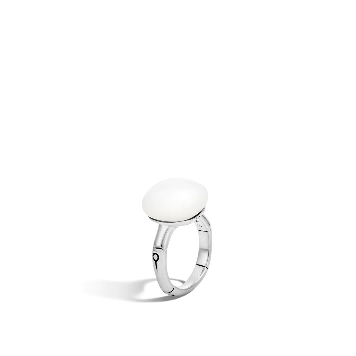 Bamboo Orb Ring in Silver with 14MM Gemstone