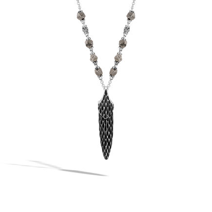 Legends Naga Pendant Necklace in Silver with 4MM Gemstone