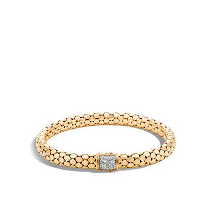 Dot 6.5MM Bracelet in 18K Gold with Diamonds