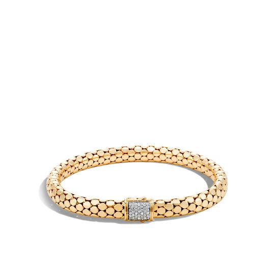 Dot 6.5MM Bracelet in 18K Gold with Diamonds, White Diamond, large