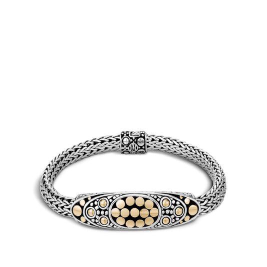 Dot Station 6.5MM Bracelet in Silver and 18K Gold, , large