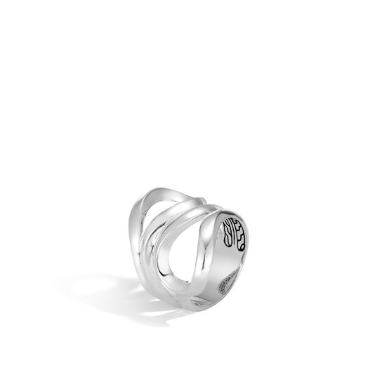 Asli Classic Chain Link Ring in Silver, , large