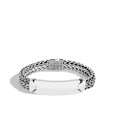 Classic Chain 11MM ID Bracelet in Silver