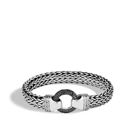 Classic Chain 11MM Ring Clasp Bracelet in Silver, Gemstone