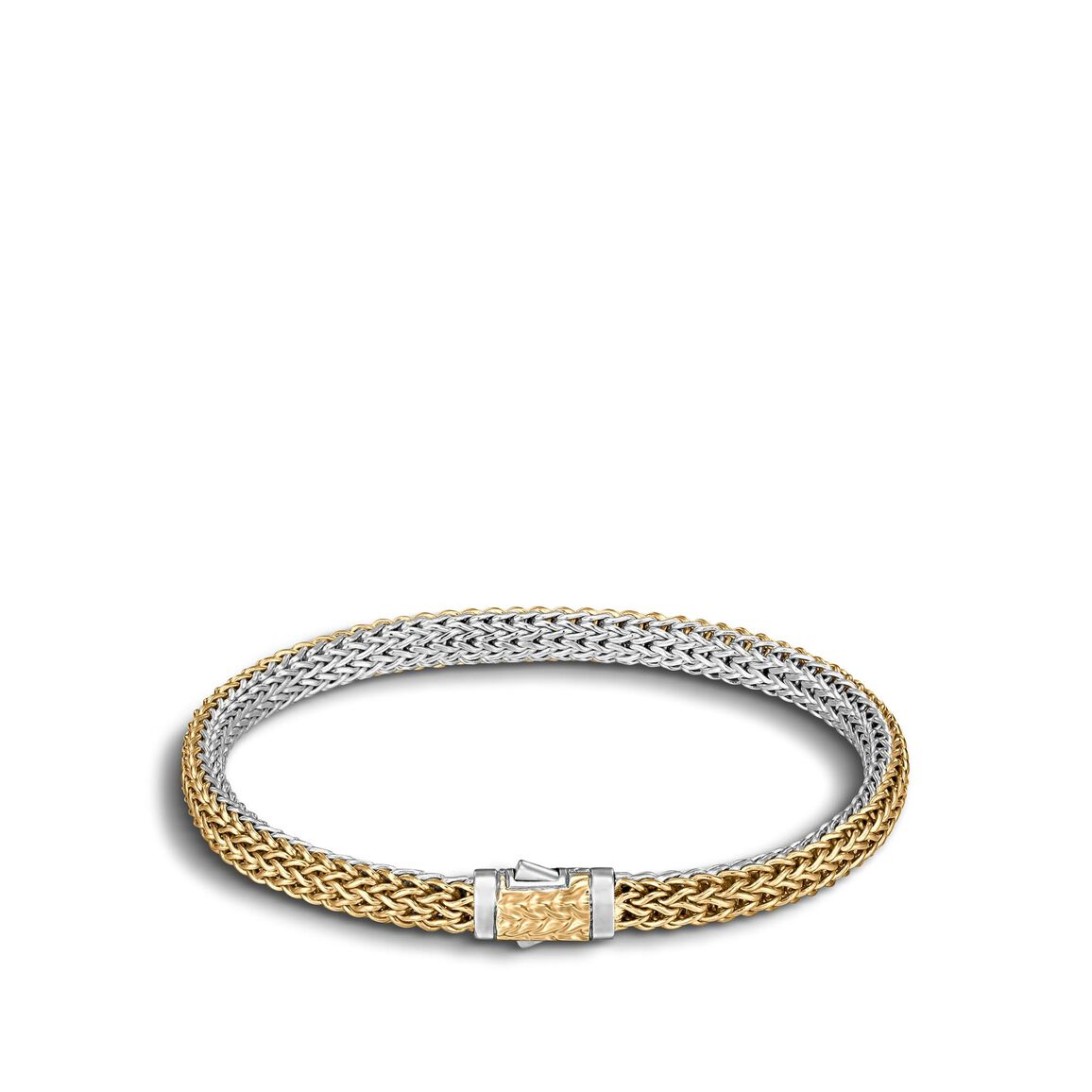 Classic Chain 5mm Reversible Bracelet Silver 18k Gold