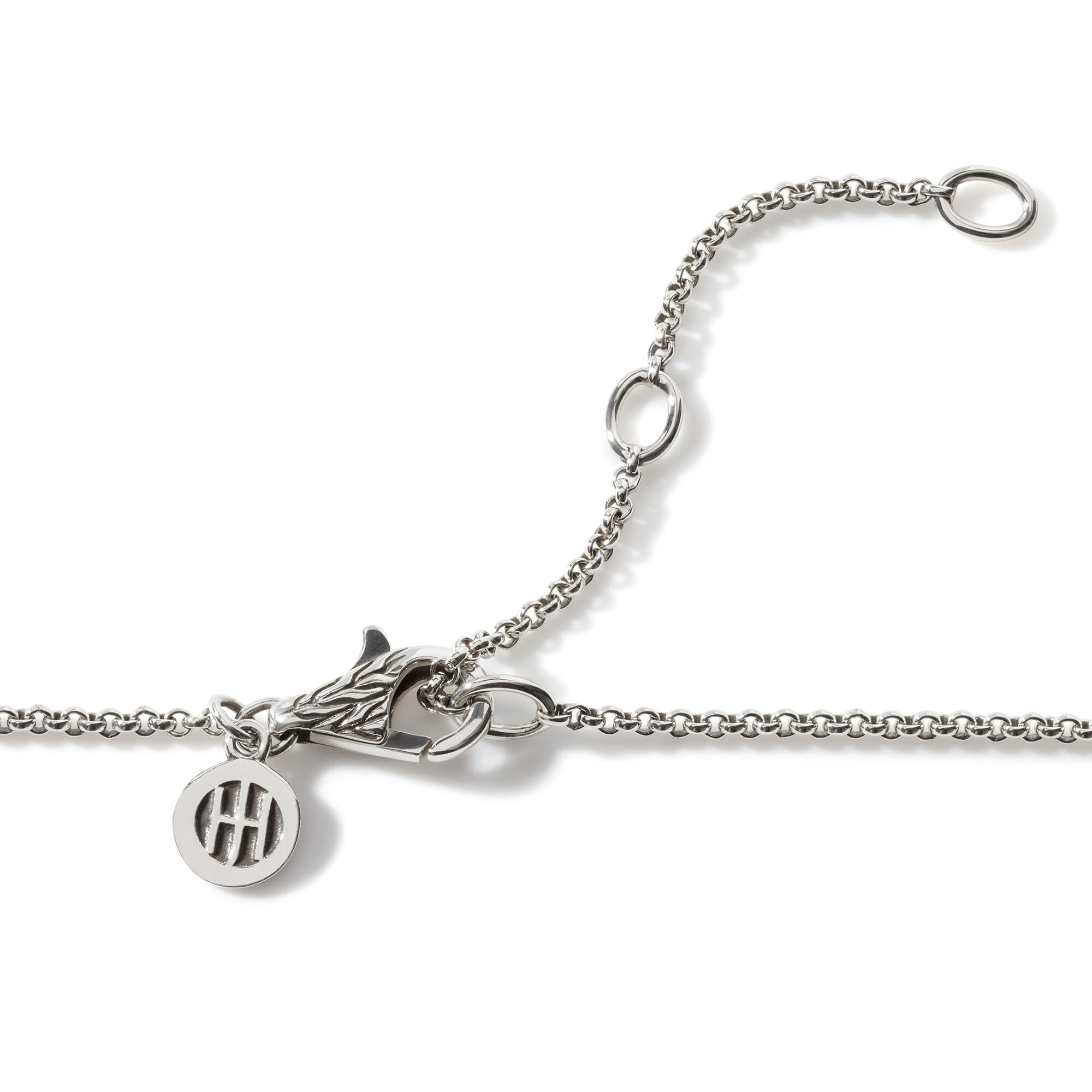 Classic Chain Heart Pendant Necklace in Silver, , large