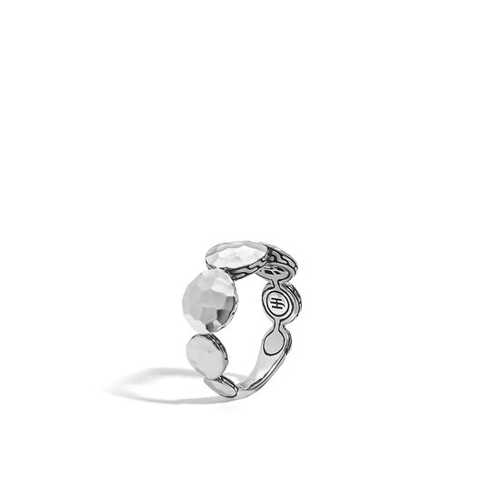 Dot 9MM Band Ring in Hammered Silver, , large
