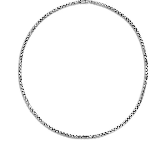 3.7MM Box Chain Necklace in Silver, , large