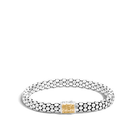 Dot 6.5MM Bracelet in Silver and 18K Gold