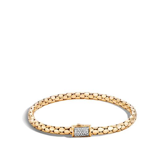 Dot 4.5MM Bracelet in 18K Gold with Diamonds, White Diamond, large