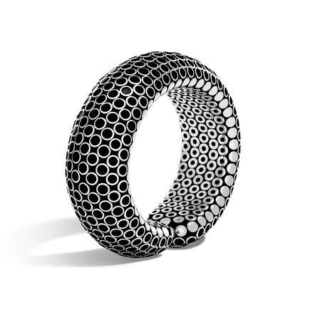 Dot 23MM Cuff in Silver with Enamel