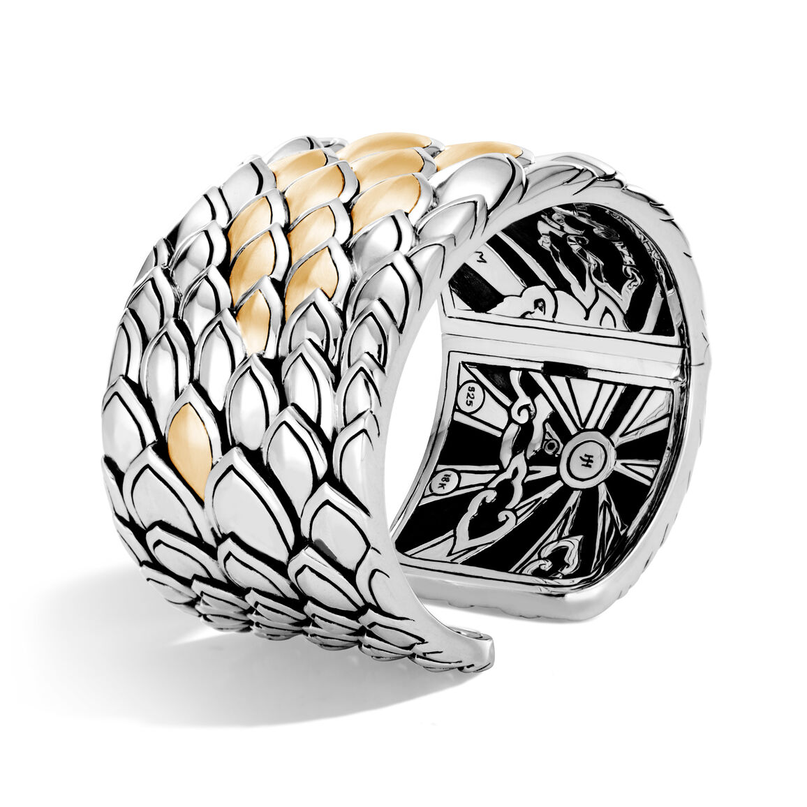 Legends Naga 40mm Kick Cuff in Silver and Brushed 18K Gold