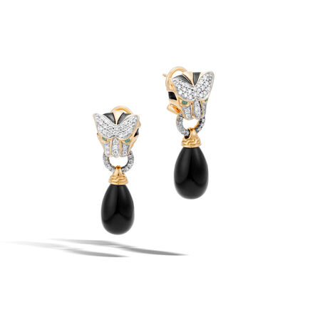 Legends Macan Drop Earring, 18K Gold, Gemstone, Diamonds
