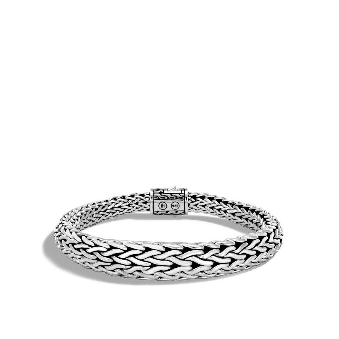 Classic Chain 11MM Graduated Bracelet in Silver