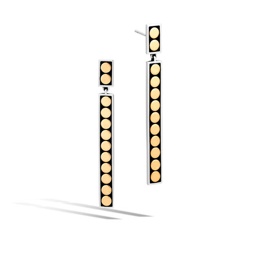 Dot Drop Earring in Silver and 18K Gold, , large