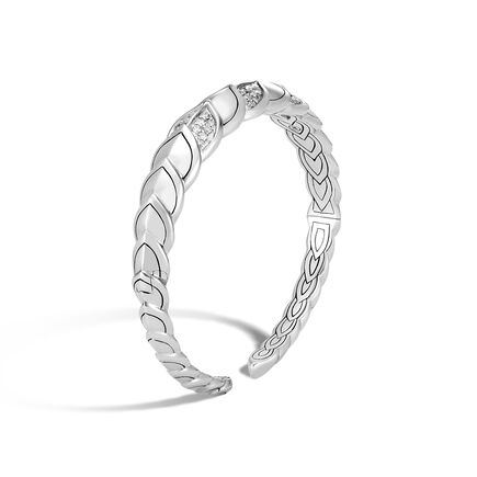 Legends Naga 11MM Cuff in Silver with Diamonds