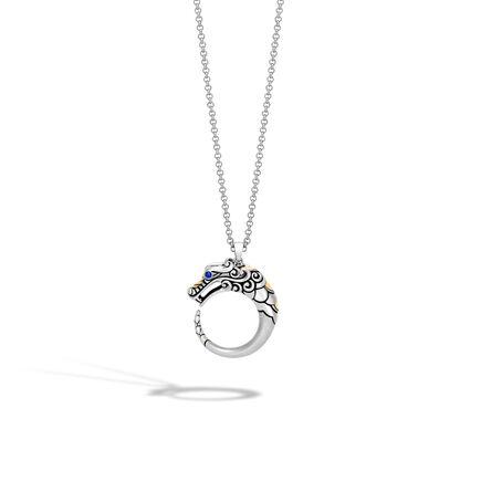 Legends Naga Station Necklace in Brushed Silver and 18K Gold