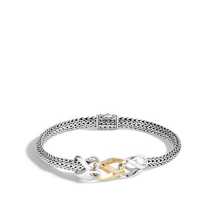Asli Classic Chain Link 5MM Station Bracelet, Silver, 18K Gold