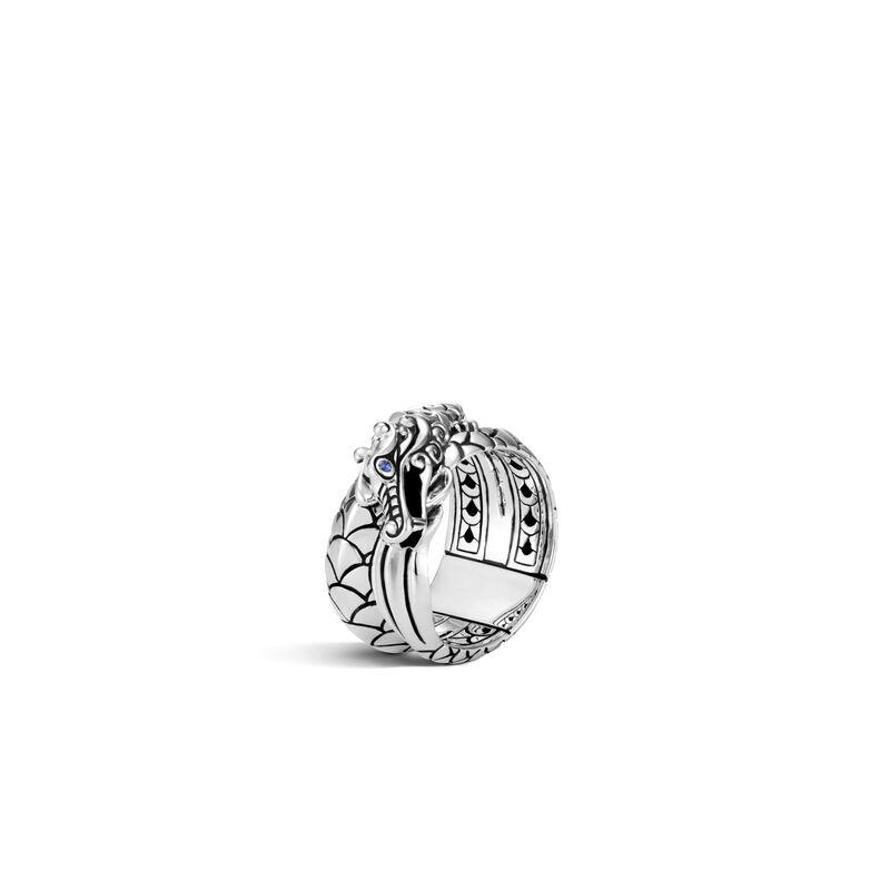 Legends Naga Overlap Ring in Silver, , large
