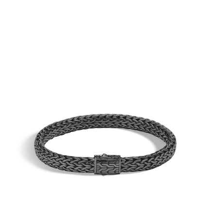 Clic Chain 7 5mm Bracelet In Blackened Silver