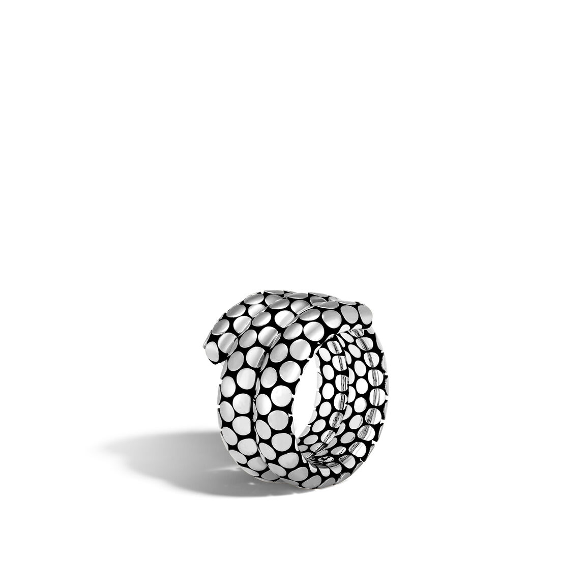 Dot Double Coil Ring in Silver